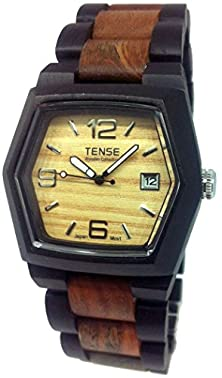 buy Tense Wood Watch Mens Two-Tone W/Date Window G8300Ds Lf (Light Face)