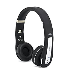 MiiKey Rhythm Pro Black/Gray Wireless Bluetooth 4.0,NFC,Multi-connect Headphone with Microphone & HD Audio