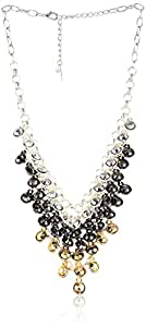 "Steve Madden ""Mixed Metallica"" Mixed Metal Shaky Faceted Bead Necklace"