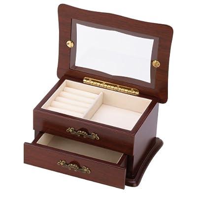 Amazoncom Keepsake Window Jewelry Box Organizer Storage Container