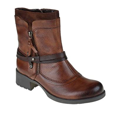 Earth Women's Buckeye Leather Boots,Almond Grained Calf Vintage,5.5 M US