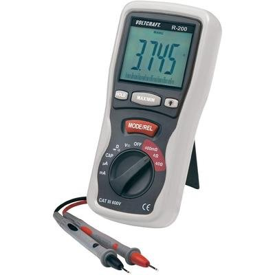 VOLTCRAFT R-200 LCR-Multimeter for measurement of resistors, inductors and capacitorsCAT III 600 V