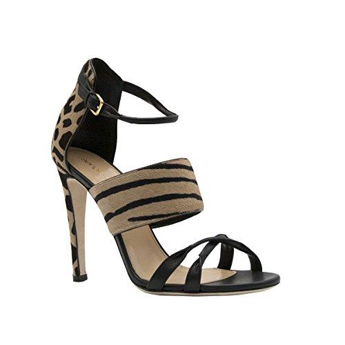 sergio-rossi-black-leather-animal-print-ankle-strap-sandal-size-395