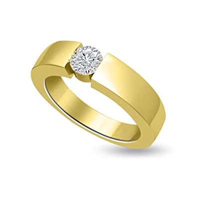0.25ct F/VS1 Solitaire Diamond Engagement Ring for Women with Round Brilliant cut Diamonds in 18ct Yellow Gold
