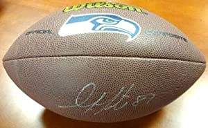 Autographed Golden Tate Football - Brown Logo Mcs Holo - Autographed Footballs