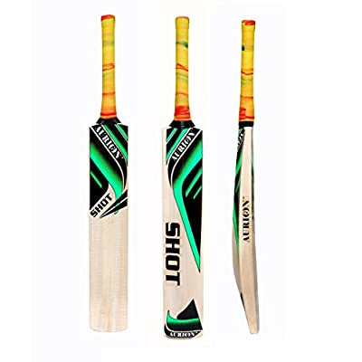 Aurion Super-Half-Cane Shot Kashmir Willow Cricket Bat For Leather Ball