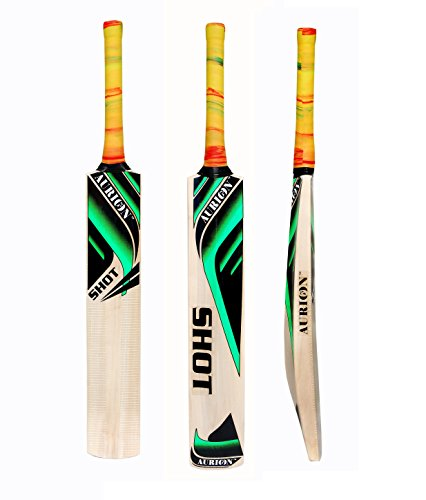 Aurion Super-Half-Cane Shot Kashmir Willow Cricket Bat (Wood)