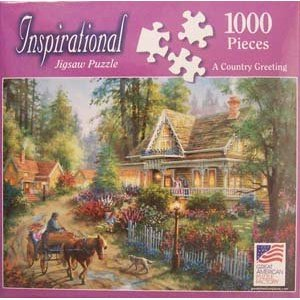 "1000-Piece Inspirational Jigsaw Puzzle ""A Country Greeting"" by Nicky Boehme - 1"