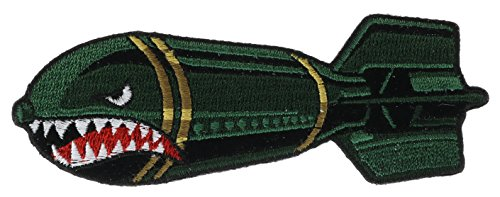 Shark Bomb Nose Art Patch 4 inch Patch NOVPA7440 (Sharks Patch compare prices)