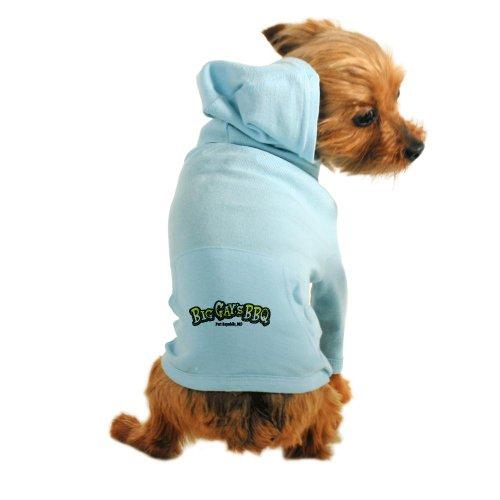 Cafepress Big Gays BBQ Small Logo Dog Hoodie - L Light Blue [Misc.]