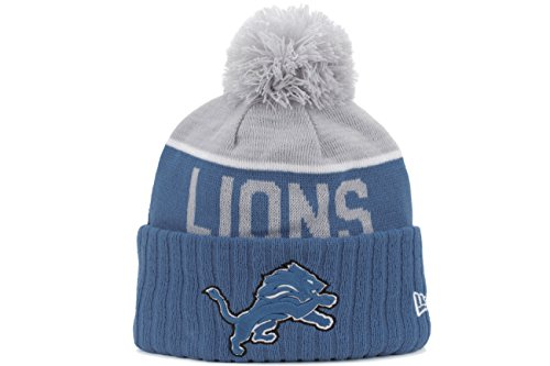 Men's New Era NFL 2015 Detroit Lions Sport Knit Hat Blue/Grey Size One Size