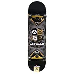 Buy Airwalk Uncontested Complete Skateboard, Gold by Airwalk