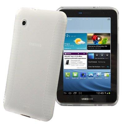 Samsung Galaxy Tab 2 7.0 festes Silikon (TPU) Tasche Case Cover Schutzhülle weiß transparent - super strapazierfähig ( P3110 / P3100 / P3113 )