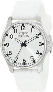 Invicta Women's 11724 Wildflower Silver Dial White Silicone Strap Watch