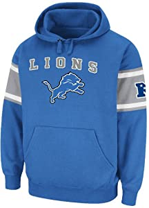 Detroit Lions Mens Passing Game IV Fleece Hoodie Sweatshirt by Majestic by VF