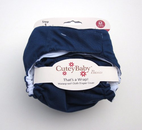 Cuteybaby That'S A Wrap! Diaper Cover, Solid Navy, Large front-95042