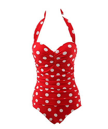 Tidetell Halter 50s Retro One Piece Bathing Suit Swimsuit Swimwear FBA R L Review