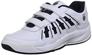 K-Swiss OPTIM OMNI II STRAP 52481-167-M, Unisex-Kinder Tennisschuhe, Weiß (White/Navy/Silver), EU 31 (UK 12.5)