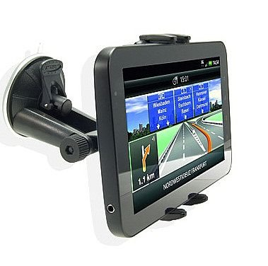 High Grade Samsung Gt-P6200 Galaxy Tab 7.0 Plus 16Gb Tablet Robust 360° Adjustable Car Windshield Swivel Suction Mount W/ Low Profile Car Kit Holder front-1035188