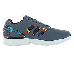 Adidas Zx Flux Men\'s Running Shoes Size US 6.5, Regular Width, Color Grey/Multicolor