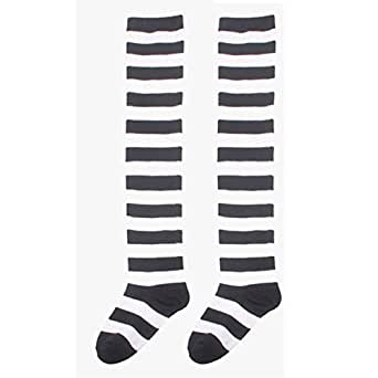 Tonsee Striped Thigh High Socks Over Knee Sock