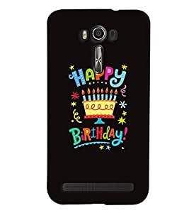 Printvisa Premium Back Cover Birthday Quote Black Background Design For Asus Zenfone 2 Laser ZE550KL::Asus Zenfone 2 Laser ZE550KL (5.5 Inches)