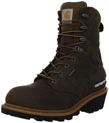 Carhartt Men's CML8129 8 Logger Insulated Work Boot,Chocolate Brown Oil Tanned,11 M US