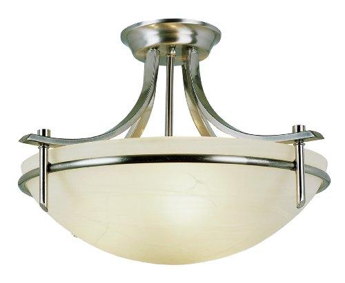 Bel Air Lighting 8172 BN 3-Light Semi Flush Mount (Kitchen Semi Flush Lighting compare prices)