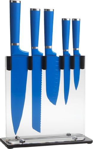 Trudeau 5-Piece Knife Block Set, Blue