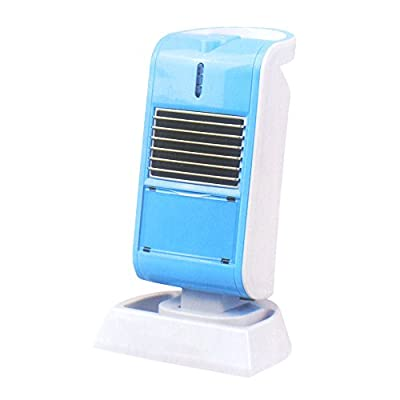Mini Desk Heater for Office or Personal Use By Thombo, Angle Adjustable, Tip Over and Automatic Overheat Protection, Available in Black, Blue and Pink (Black)