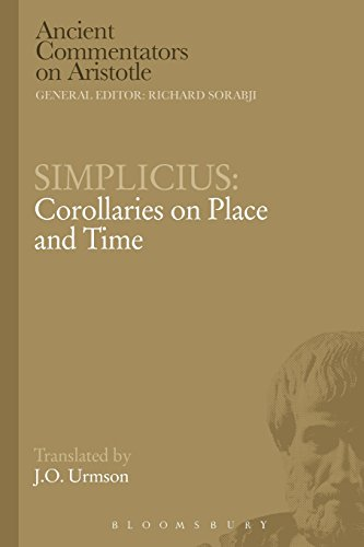 Simplicius: Corollaries on Place and Time (Ancient Commentators on Aristotle) PDF
