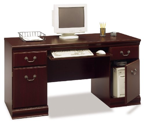 Bush Furniture Birmingham Executive Credenza, Harvest Cherry