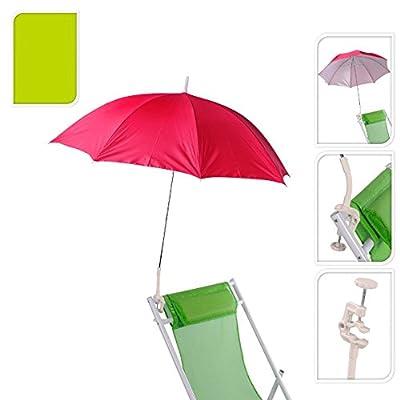 Pro Beach Green Lightweight Clip On Chair Parasol Beach parasol flexible neck Screw on clamp 100cm Outdoor Deckchair Clip On Parasol Shade Protection Umbrella clip on parasol for sun lounger