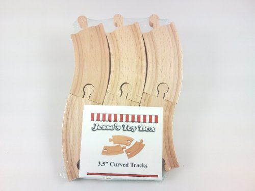 41OQ6sA eRL Cheap Buy  Jesses Toy Box ® Set of (6) 3.5 Curved Wooden Train Tracks fit Thomas Wooden Railway, Brio, Chuggington, and other brands.