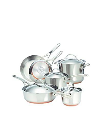 Anolon Nouvelle 10-Piece Copper Stainless Steel Cookware Set