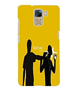 Fuson 3D Printed Attitude Designer Back Case Cover for Huawei Honor 7 - D615