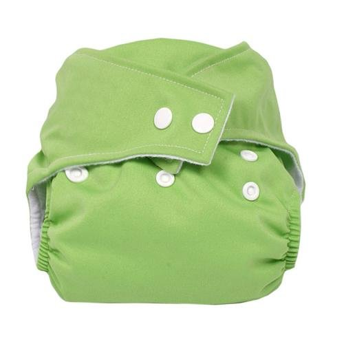niceEshop(TM) Press button adjustment washable leak-proof baby cloth diapers green