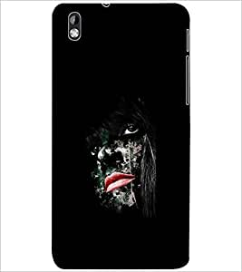 PrintDhaba HIDDEN FACE D-6963 Back Case Cover for HTC DESIRE 816 (Multi-Coloured)