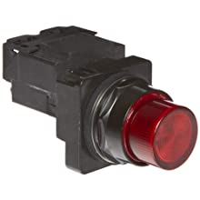 Siemens 52BL4J2 Heavy Duty Pilot Indicator Light, Water and Oil Tight, Plastic Lens, Transformer, 755 Type Lamp or 6V LED, Red, 480VAC Voltage