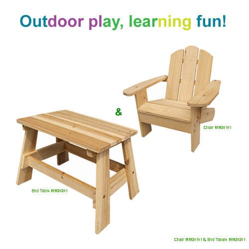 Cheap 13763 Lohasrus Kids Outdoor Furniture Set – Adirondack Chair MM20101 & End Table MM20201, for Kids 2~6 Years (B004CQYRJI)