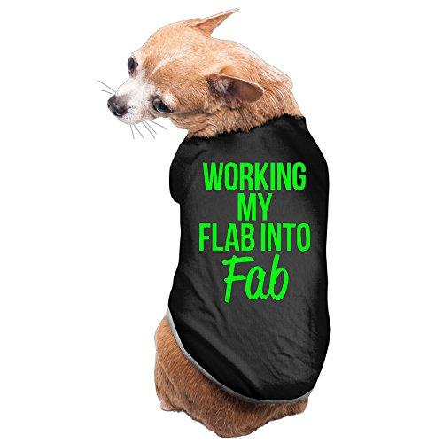 YRROWN Working My Flab Into Fab Puppy Dog Clothes (Spirit Halloween Utah)