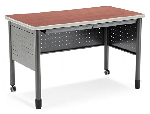 OFM Training Table Desk with Center Drawer