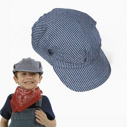 Buy Childs Cotton Train Conductor Hats (1 dz)