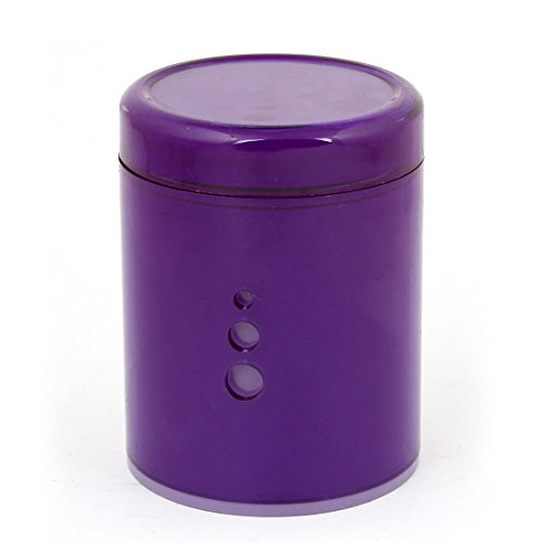 Car Purple Shell Blue Led Light Single Hole Cigarette Ashtray Holder