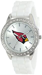 Game Time Ladies NFL-FRO-ARI Frost NFL Series Arizona Cardinals 3-Hand Analog Watch by Game Time