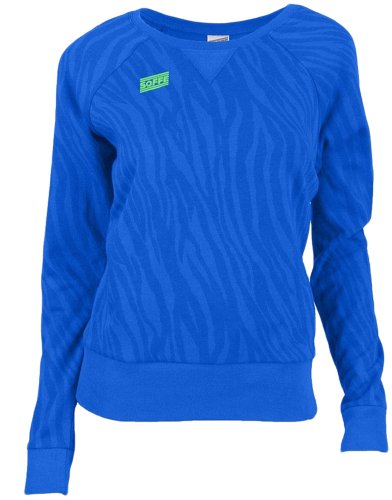 Soffe Junior'S Zebra Crew Neck Sweatshirt, Medium, Electric Blue