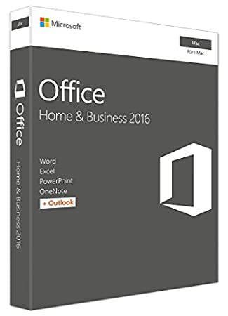 Microsoft Office Mac Home Business 2016 (Product Key Card ohne Datenträger)