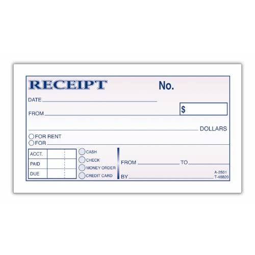 Money Amp Rent Receipts Rediform 8l820 Small Money Receipt Book 5 X ...