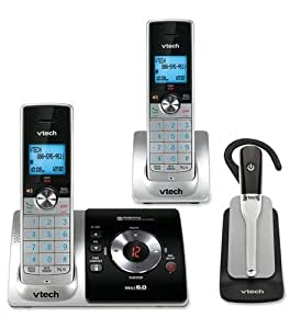 Vtech 2 Handset Answering System with Cordless Headset(LS6375-3)