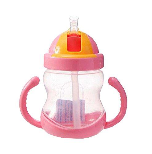 280ML-Baby-Wasserflasche-mit-Handgriff-Praktische-Kids-Trainingsflasche-Rosa